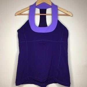 Lululemon Sz 12 Athletic tank purple workout top